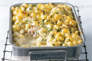 Cauliflower And Bacon Macaroni Cheese